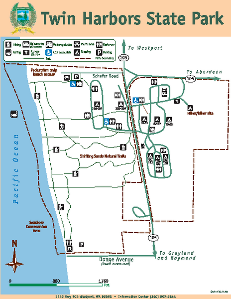 Twin Harbors State Park Map