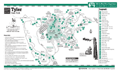 Tyler, Texas State Park Facility and Trail Map