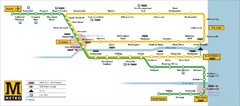 Tyne and Wear Metro Route Map