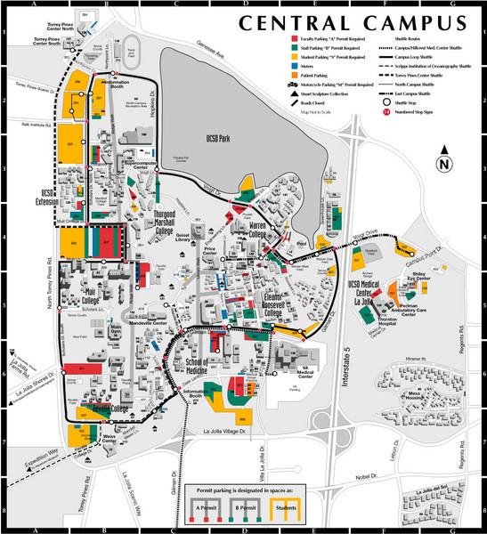 Uc San Diego Map 9500 Gilman Dr La Jolla Ca Mappery