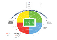 UK Wembley Stadium Map