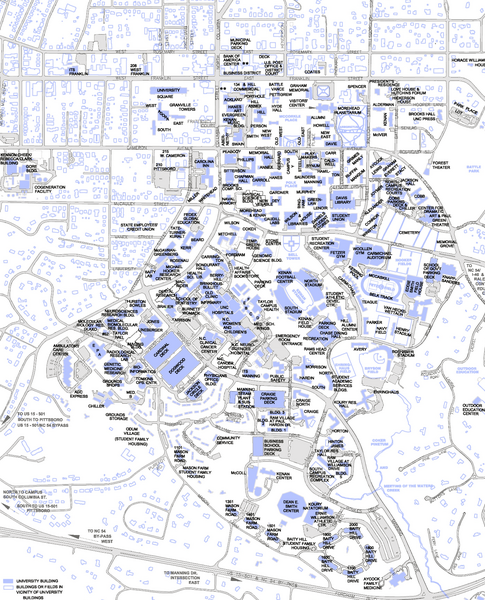 UNC-CH Campus Map - chapel hill nc • mappery