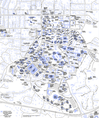 real life map collection • mappery Duke University Campus Map on