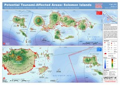 UNOSAT Solomon Islands Elevation Map