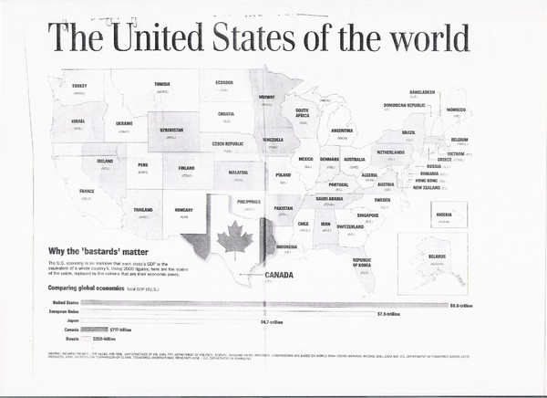US GDP World Map US  Mappery - Us gdp map