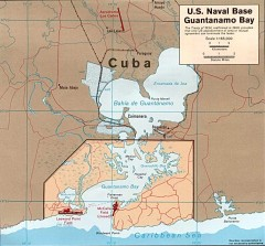 US Naval Base at Guantanamo Bay Map