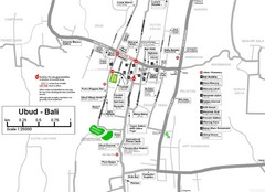 Ubud Tourist Map