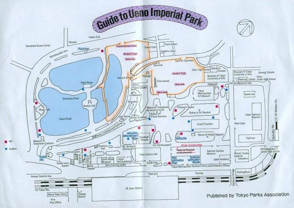 Ueno Park Autumn Fullsize Ueno Park Map
