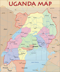 Uganda Tourist Map Uganda mappery