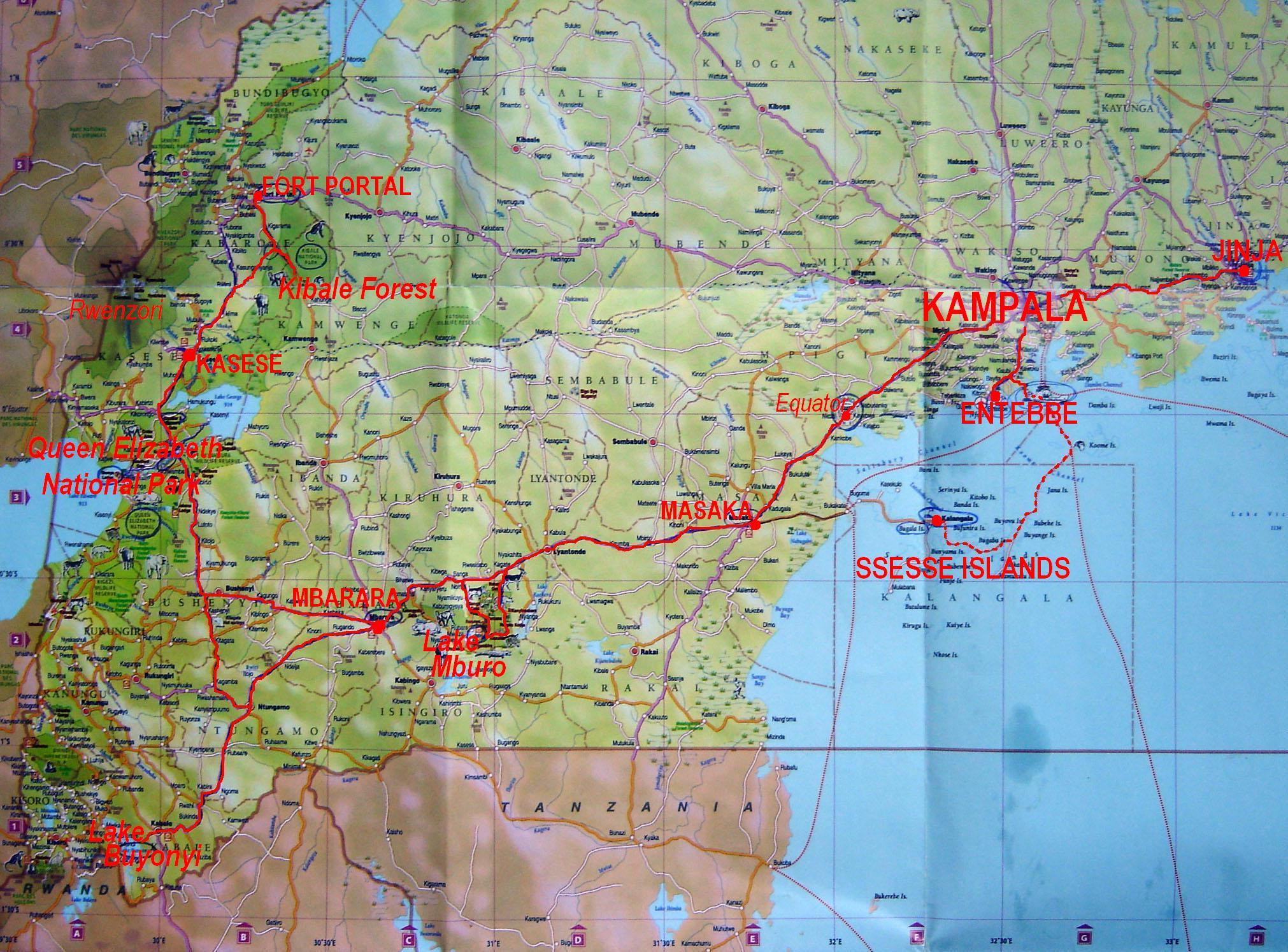 Uganda Travel Maps | Metro Map | Bus Routes | Metrobus Way Map ... Uganda Travel Maps