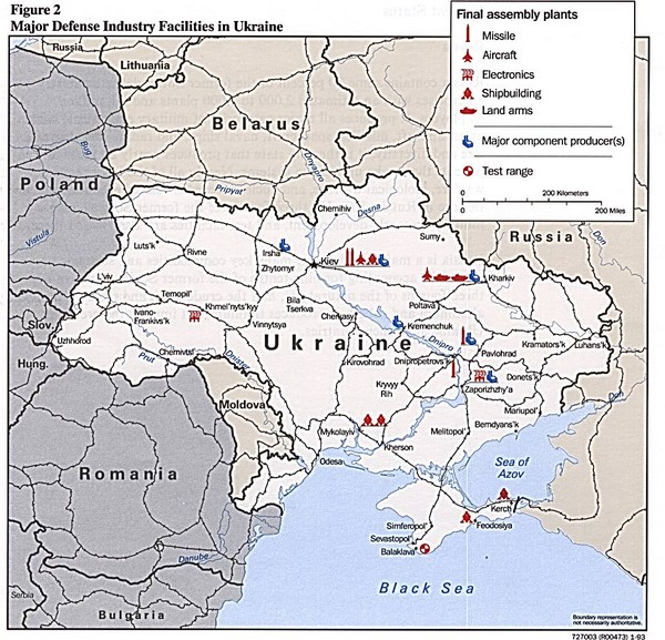 Ukraine Defense Facilities Map