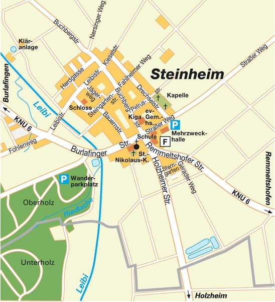 Ulm Steinheim Map