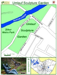 Umlauf Sculpture Garden Map