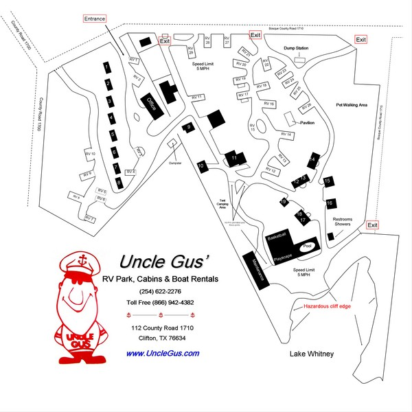 Uncle Gus' RV Park Map