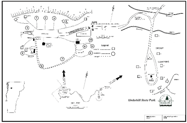 Underhill State Park Campground Map