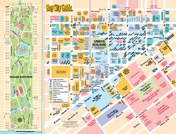 Union Square Tourist Map - Union Square San Francisco • mappery
