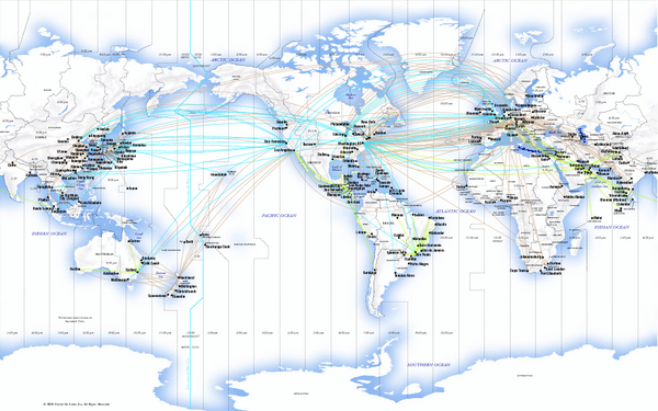 United Airlines International Route Map