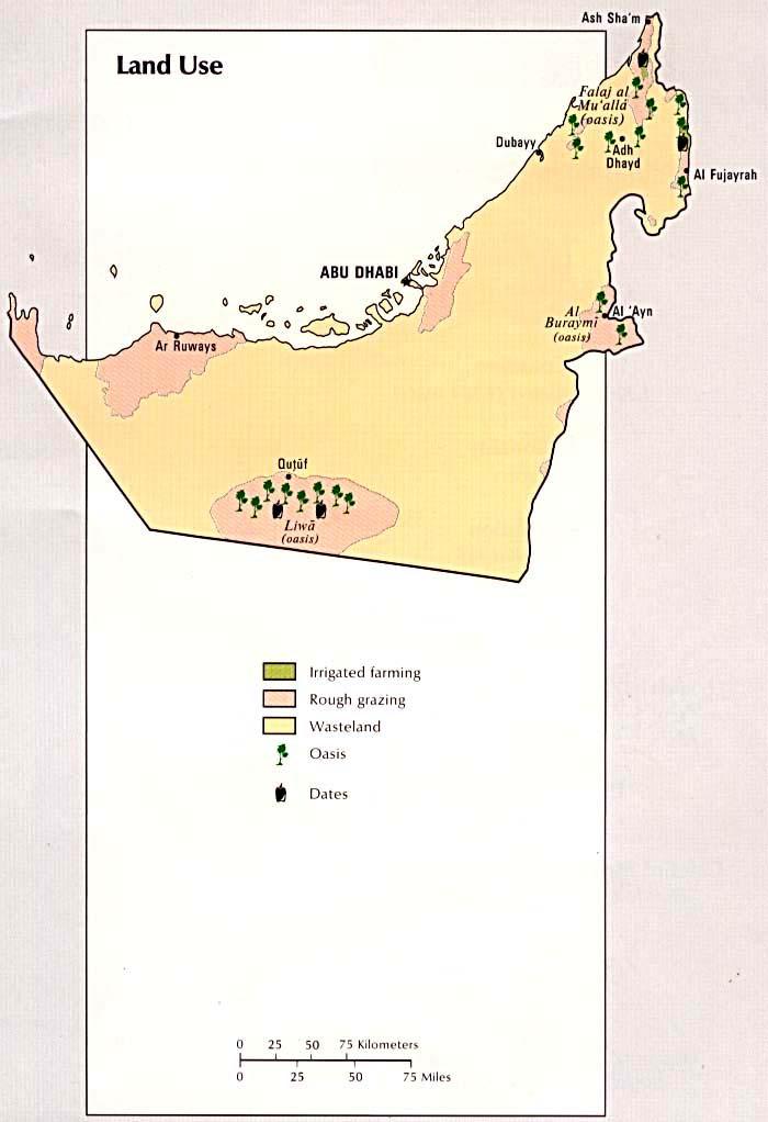 united arab emirates land use map united arab emirates mappery