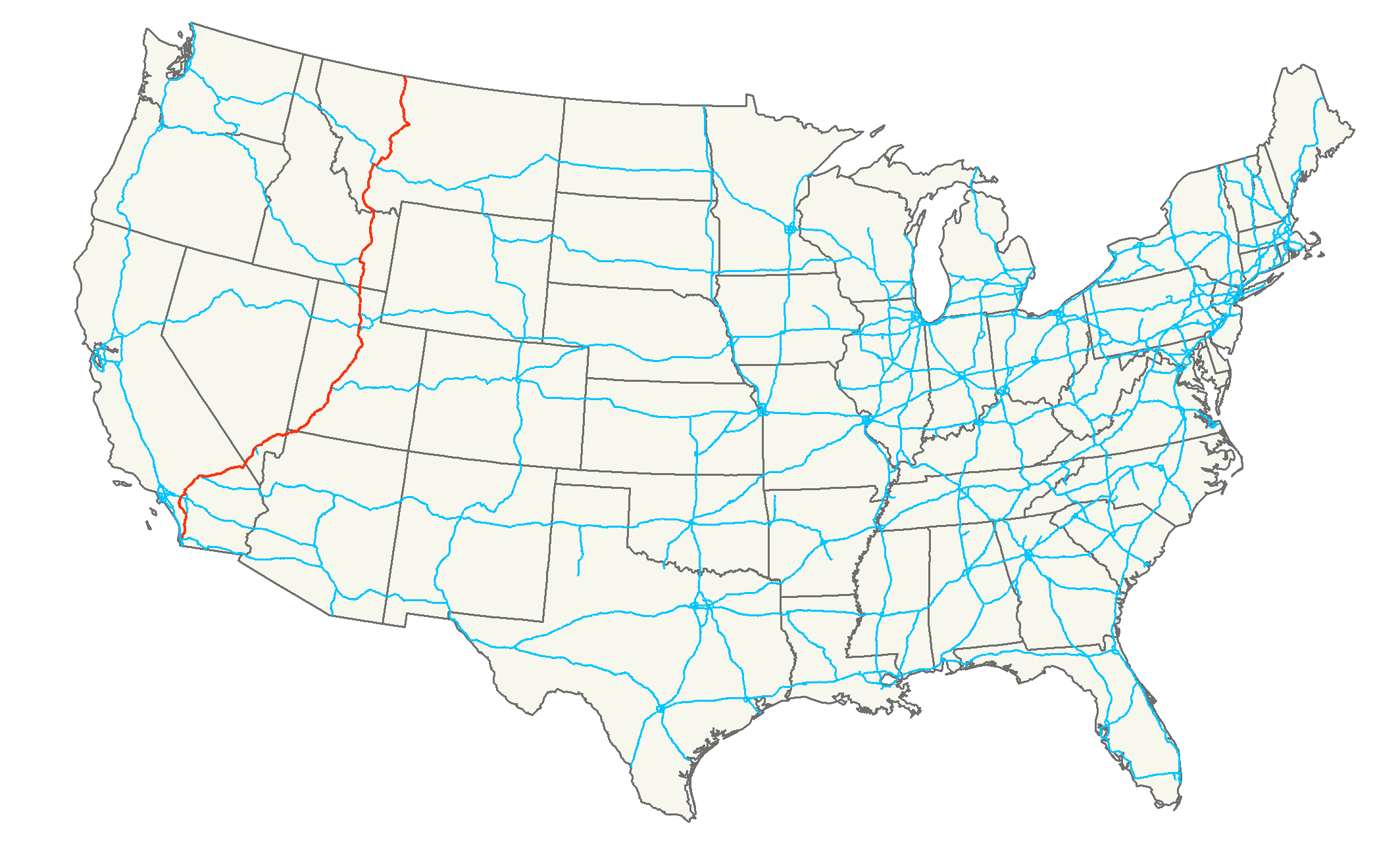 US Highway Route Map