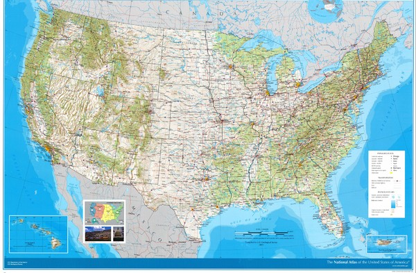 Maps United States Map Physical Features - Physical features of the united states map
