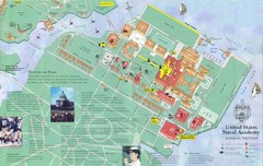 United States Naval Academy Map