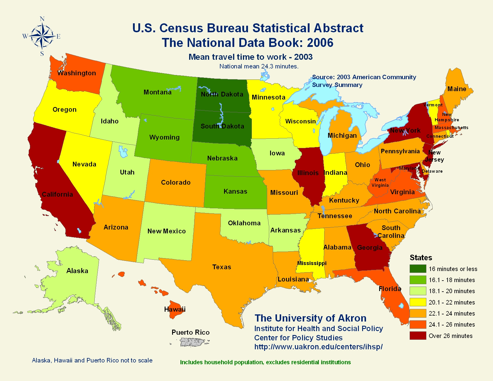 United States Travel Time to Work Statistical Map United States – Us Travel Map States