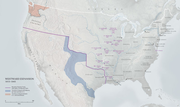 United States Westward Expansion Map mappery
