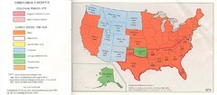 United States in 1870 Map
