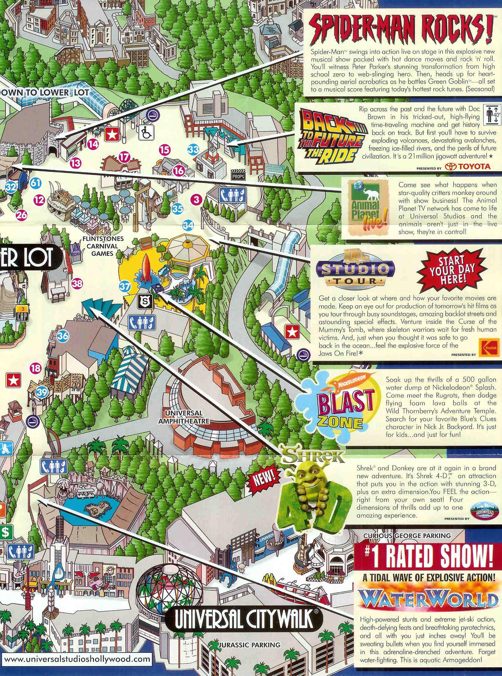 Universal Studios in Hollywood Tourist Map burbank ca mappery – Tourist Map Of Hollywood