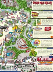 Universal Studios in Hollywood Tourist Map