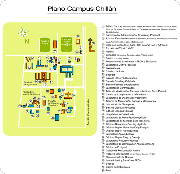 Universidad de Concepción Chillan Campus Map