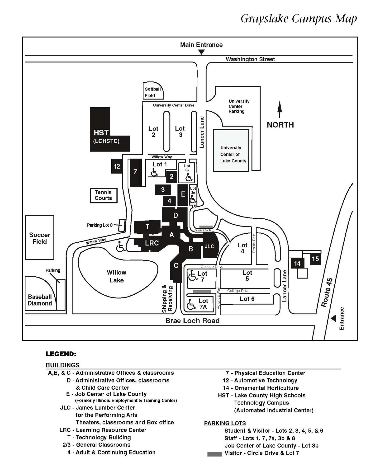 Olivet Campus Map.University Center Of Lake County Map University Center Of Lake