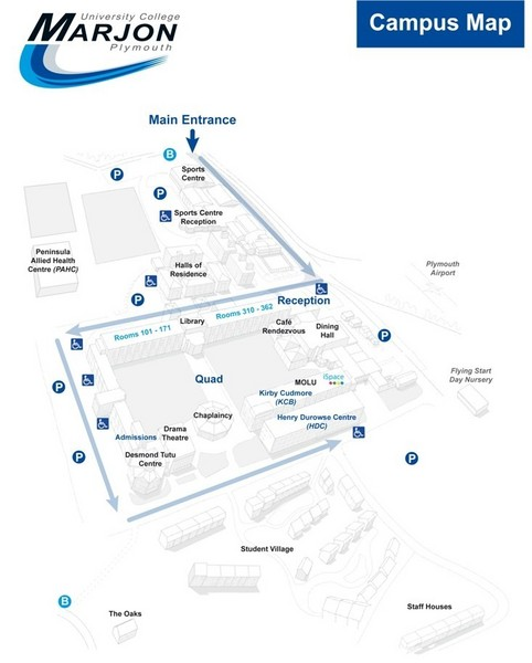University College Plymouth Map