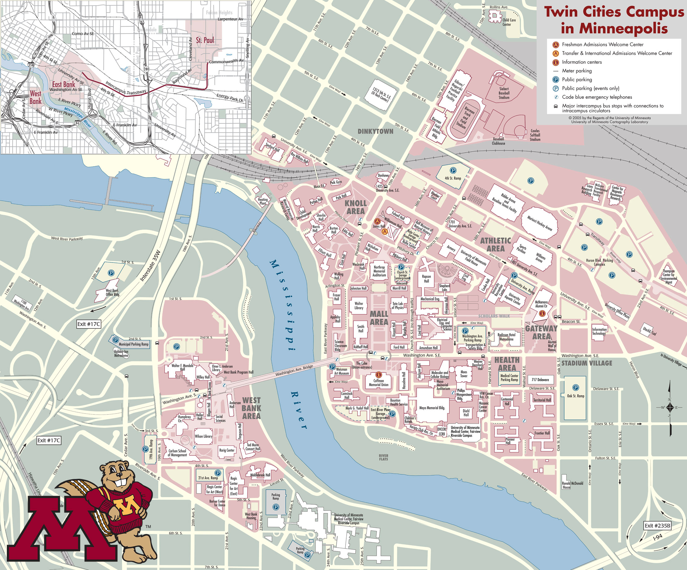 U Of Minnesota Map.University Minnesota Twin Cities Map Minneapolis Mn 55414 Mappery