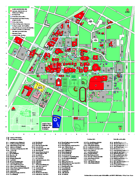 University Of Akron Main Campus Map Akron Ohio Mappery