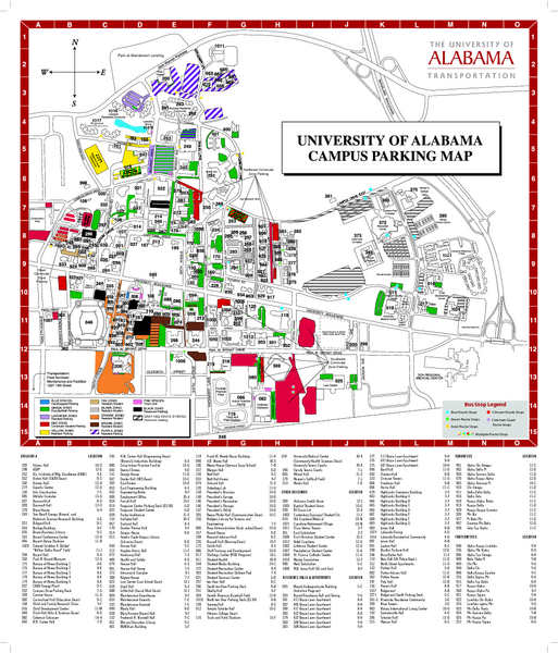University of Alabama Map - University of Alabama • mappery