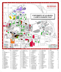 University of Alabama Map
