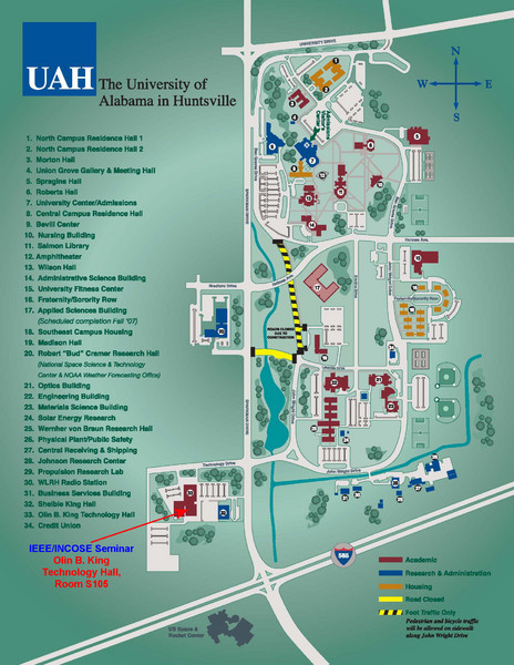 University of Alabama in Huntsville Map