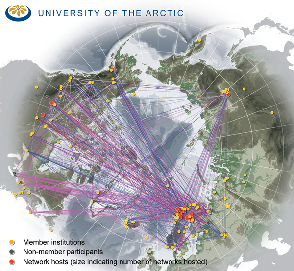 University of the Arctic Thematic Networks map