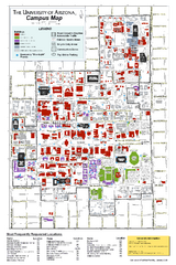 University of Arizona Campus Map