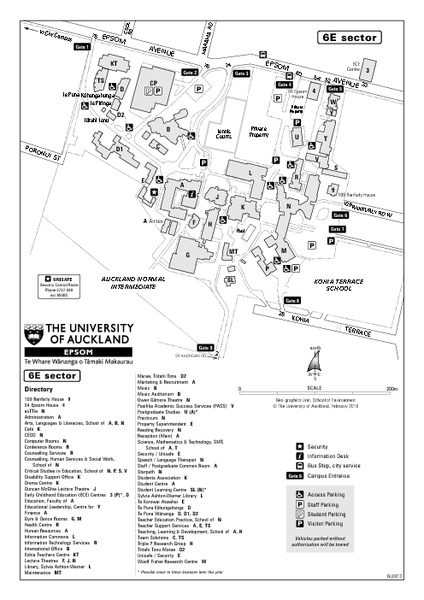 University of Auckland - Epsom Campus Map