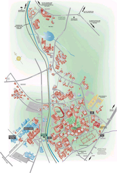 University of Birmingham Map Birmingham UK mappery
