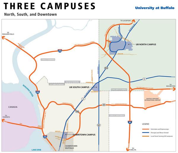 university at buffalo south campus map Real Life Map Collection Mappery university at buffalo south campus map