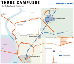 University of Buffalo Campus Maps Map
