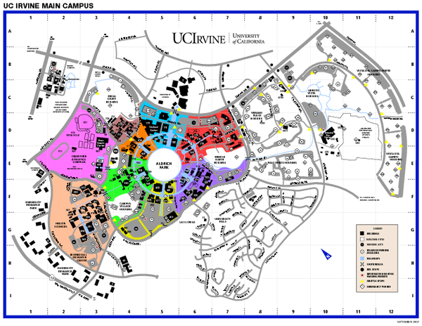 University of California at Irvine Map - Irvine California ...