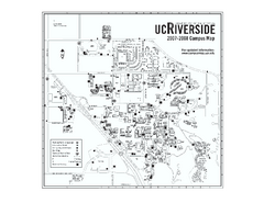 University of California at Riverside Map