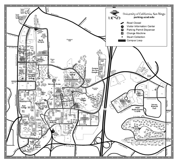 University of California at San Diego Map
