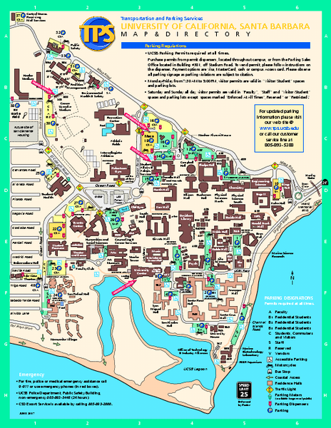University Of California At Santa Barbara Map Santa Barbara