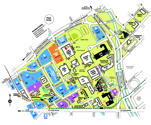 University of Colorado Denver Map
