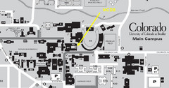 University of Colorado at Boulder Campus Map